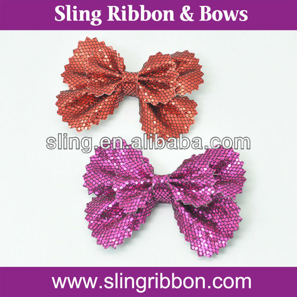 Leather Hair Bow Clips