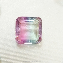 Shinning gemstone 9*11mm emerald cut octagon king natural stone gems pink black tourmaline