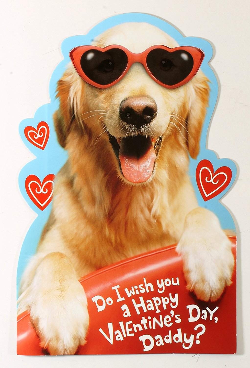 Valentine Card for Daddy from young son (Do I wish you a Happy Valentine's Day, Daddy? (Dog w/sunglasses)) By American Greetings Each
