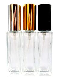 Yeni doldurulabilir düz kare parfüm buzlu cam sprey şişesi 30 ml cam sprey parfüm şişesi kare