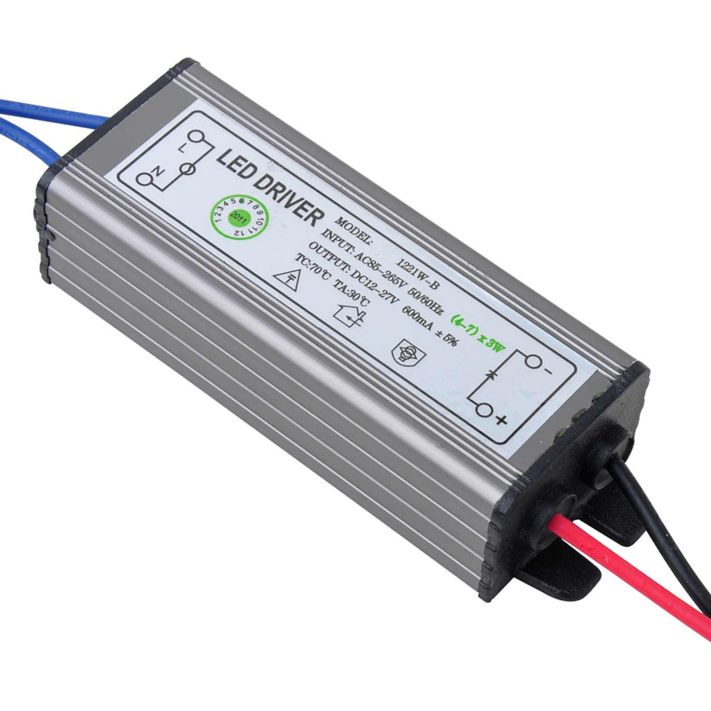 12-21W LED Driver Power Supply Waterproof IP67 Constant Current AC100-260V 600mA For 12-21W LED Bulb