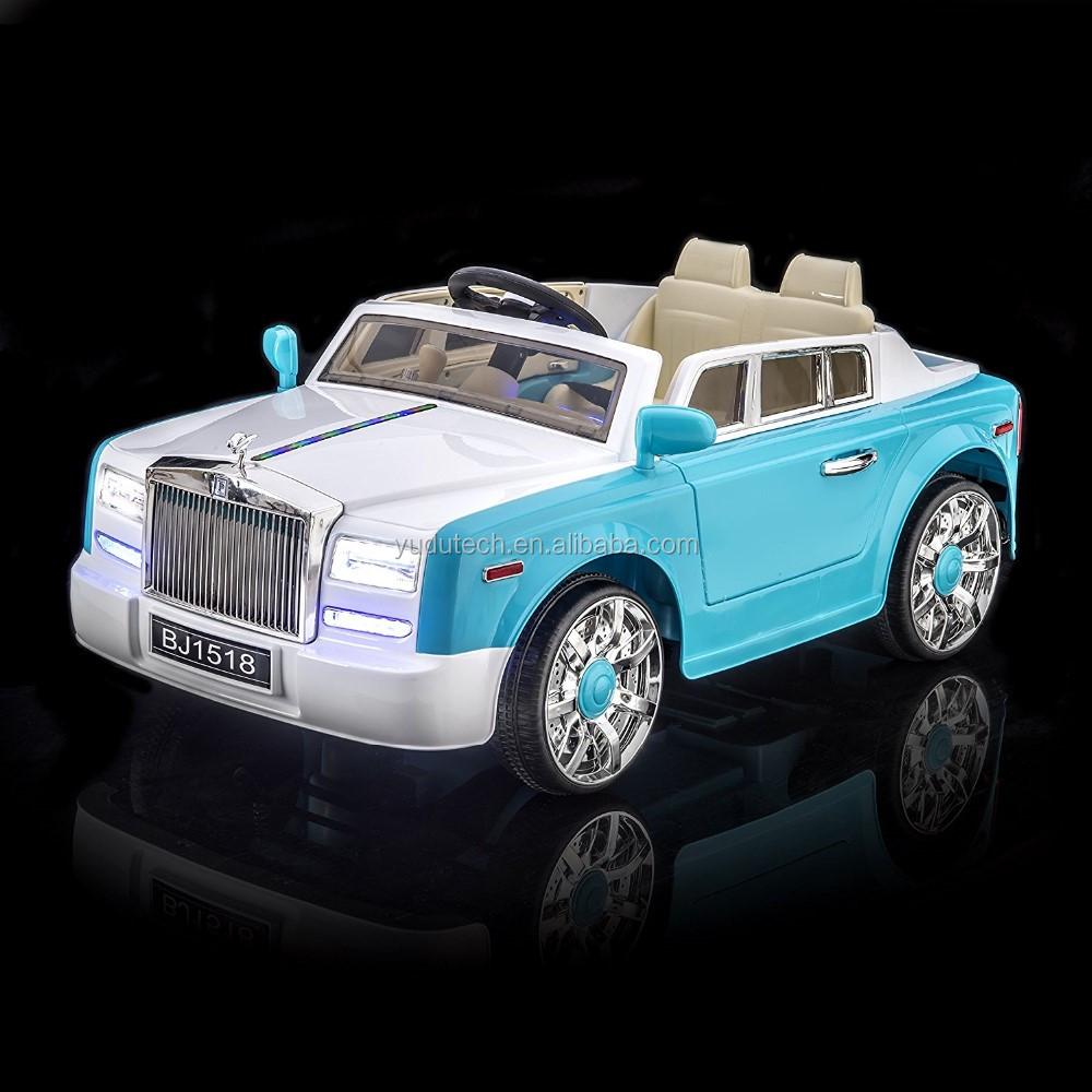 Blue Rolls Royce Phantom Style Luxury Kid's Ride On Toy ...
