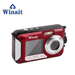 Winait 24MP waterproof dual display digital video camera, mini gift DV