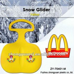 2014 Christmas promotion gift mcdonalds outdoor plastic sled