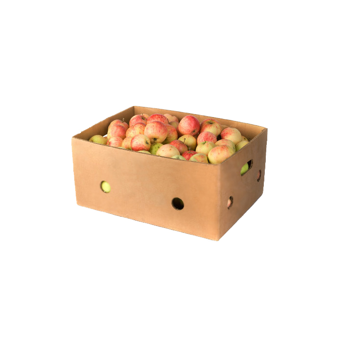 Plain Recycled Corrugated Cardboard Packaging Box for Fruits and Vegetables Bulk Buy from China
