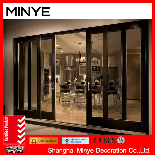 China Supplier Reflective/stacking Sliding Glass Doors/wood Frame ...