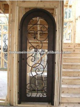 Superieur Lowes Wrought Iron Security Exterior Entry Doors With Glass Inserts For  Sales Made In China