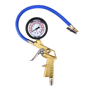 Auto Car Truck Motorcycle Pistol Flexible Hose 220 PSI Tire Pressure Gauge Factory Tire Inflating Gun