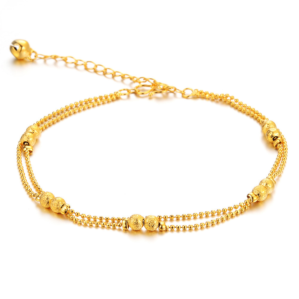 and clover the rose anklet gold in anklets silver