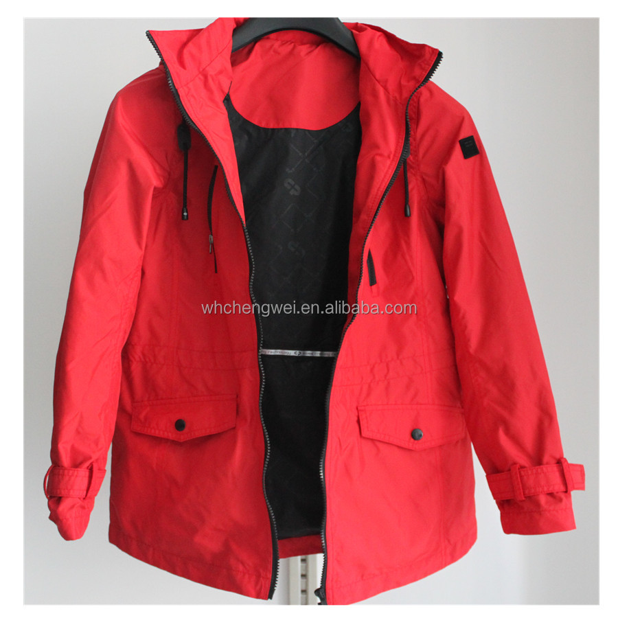 Jacket women autumn 2015 OEM hot sale red outdoor clothing