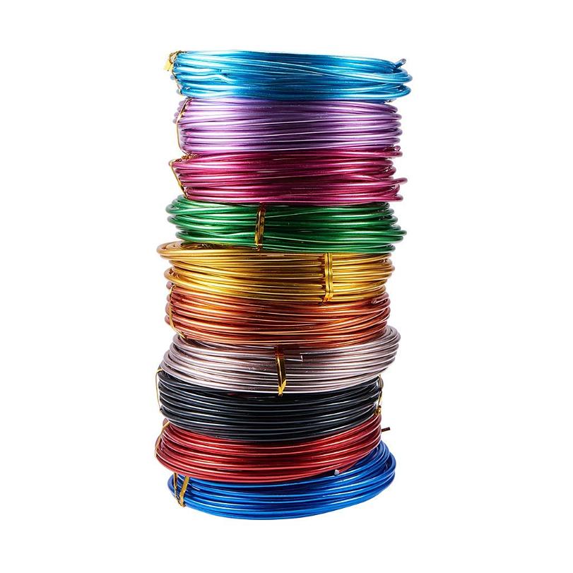 Wholesale 5m 10m 15m/roll Craft Anodized Aluminum Wire Color Aluminum Wire Soft Aluminum Wire