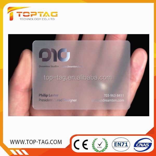 Chantillon Gratuit En Plastique Transparent Carte De Visite Entreprise Cartes Voeux