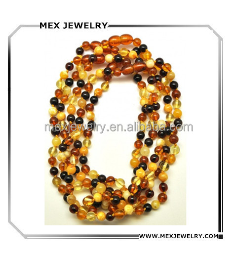 Certified natural baltic amber baby teething necklace wholesale for boys and girls