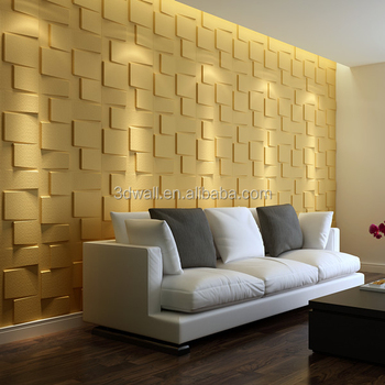 Plant Fiber Decorative Mural 3d Wallpaper 3d Wood Wall Panels For ...