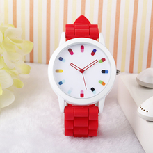 New arrival bracelet wrist watch with custom logo silicon band kids watches in bulk