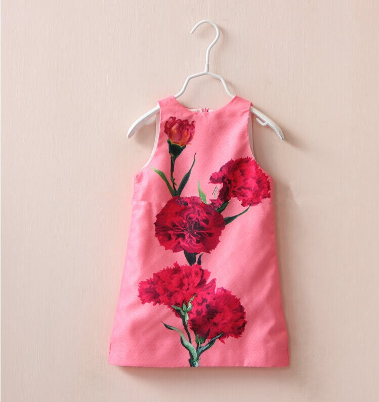Chinese Vintage Design Pinl Embroidery Baby Girls Dressesethnic