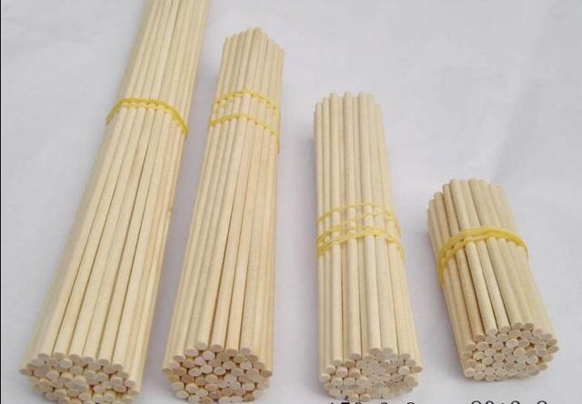 Milageto Wood Rods for Crafts 10cm 15cm 20cm- Different Rods 10x0.5cm Craft Sticks Round Dowels 50 pcs Round Wood Dowels 5mm//0.20inch in Varying Sizes