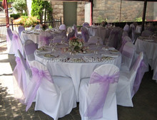 Organza Ruffle Curly Willow Chair Sashes For chair cover