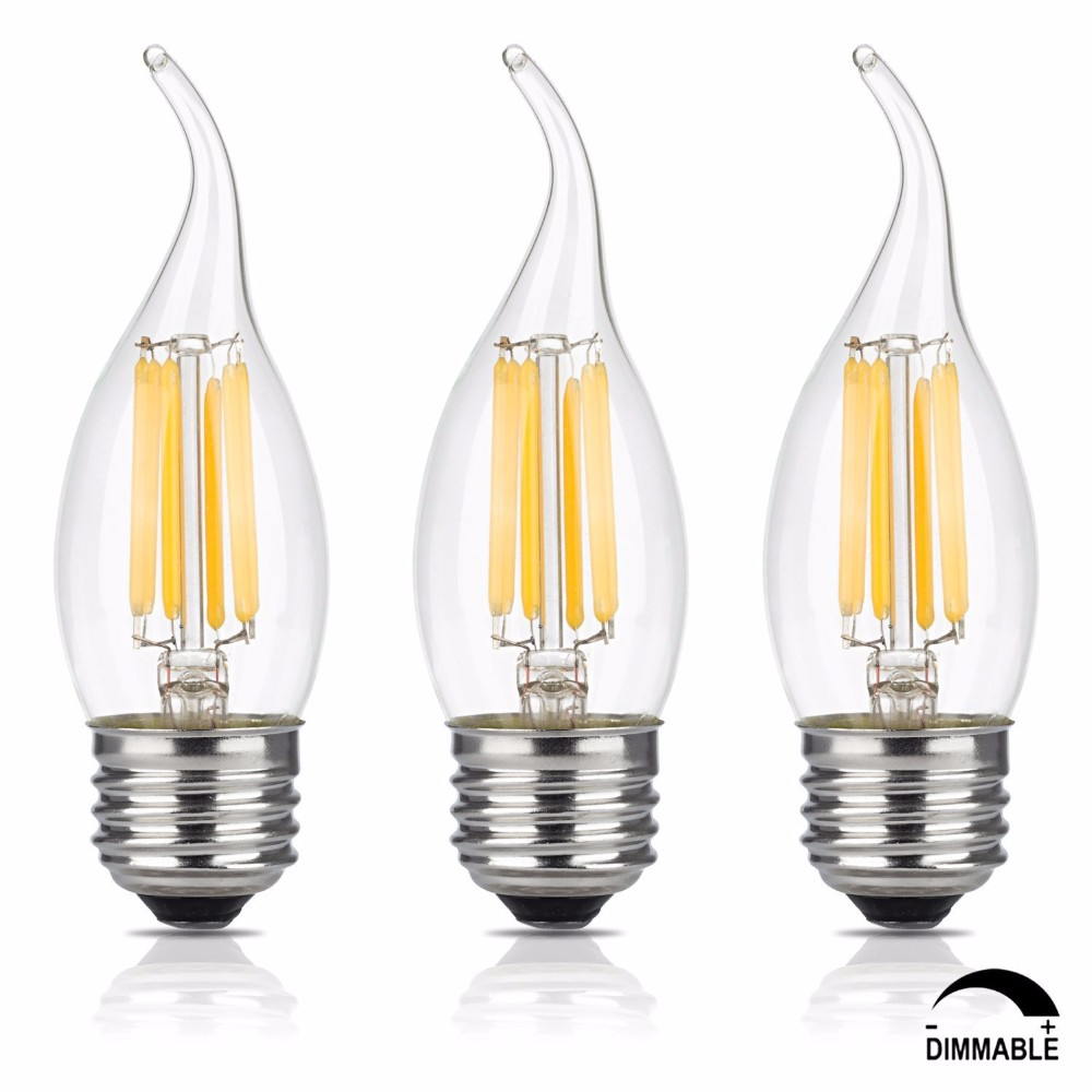 G14 E12 4w Led Vintage Antique Filament Light Bulb 40w: 2017 Dimmable C35 4w(40w Incandescent Equivalent) Frosted
