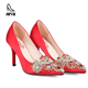 Factory women pumps high heel shoes sexy stiletto heels ladies wedding shoes for bride