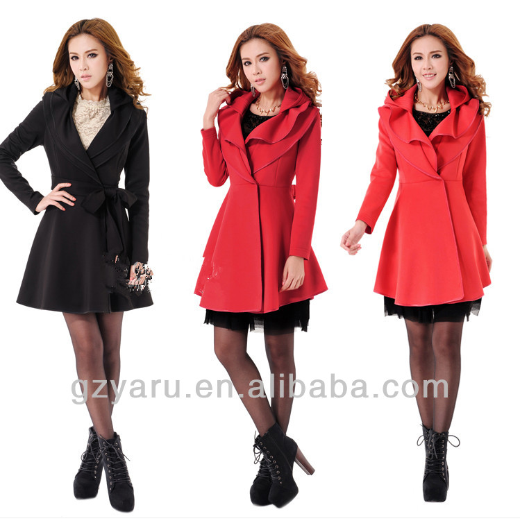 wholesale fashion winter spring ladies coats factory
