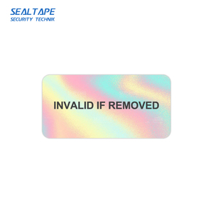 destructible vinyl adhesive carton seal a3 a4 labels paper security hologram eggshell stickers