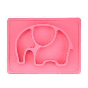 High quality divided baby silicone plate - Reusable food feeding dishes mat for baby toddlers