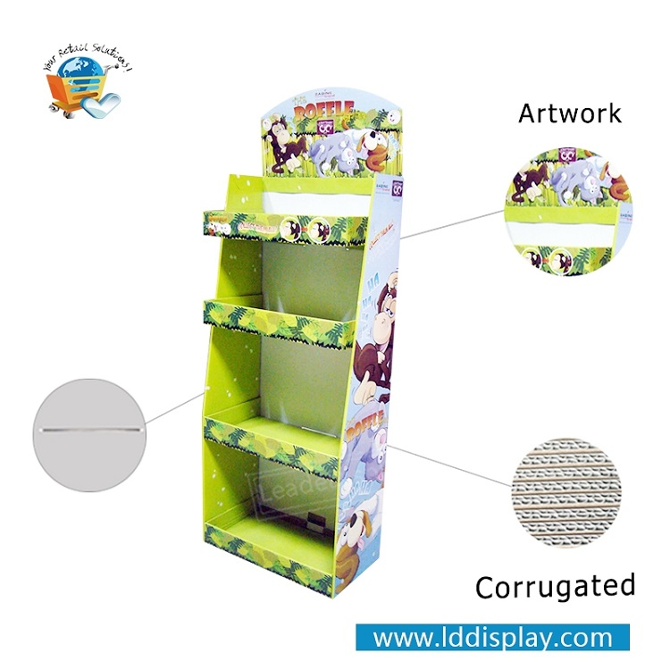 Lowest price 4C/4Color printing promotion custom children toys cardboard display stand