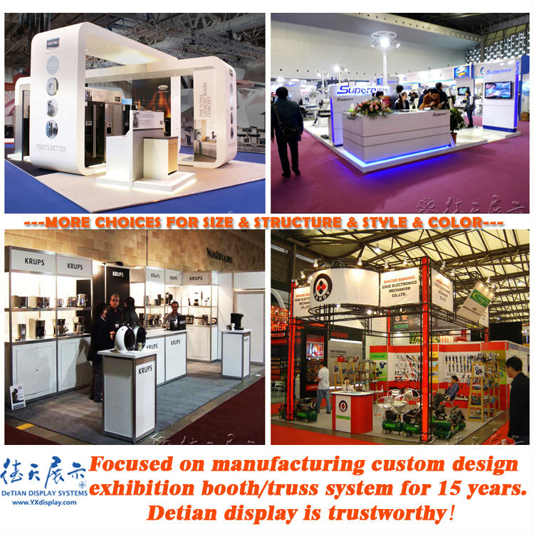 Exhibition Stand Reception Desk : Wooden exhibition booth with fair reception desk for trade show