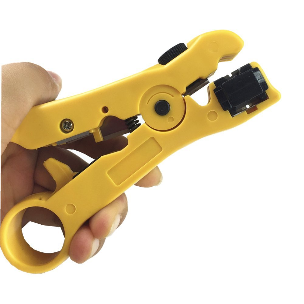 WeBravery Universal Cutter Stripper for Flat or Round UTP Cat5 Cat6 Cable Coax Cable Stripping Wire Stripper Tool