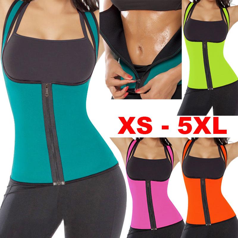 e93a65cd3 size women sweat enhancing waist training corset cincher waist trainer