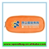 Orange custom zipper pencil case with compartments