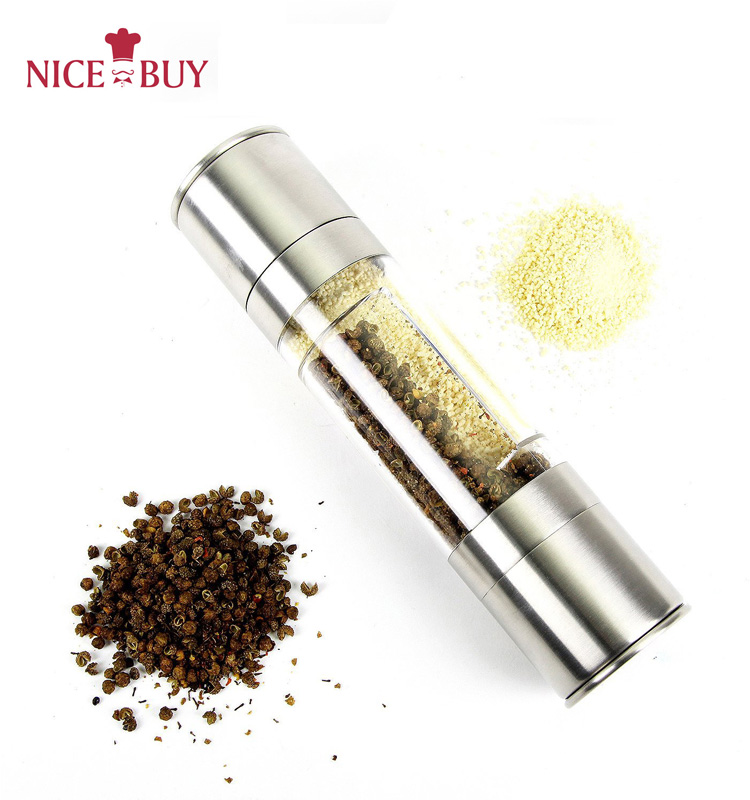 ODM/OEM Metalen handleiding pepermolen en solt grinder fles