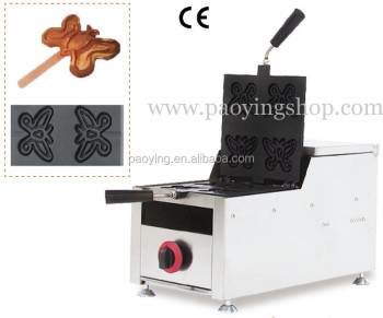 4-Slice Commercial Use Non-stick LPG Gas Butterfly Waffle on A Stick Maker