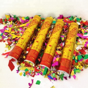 Hot selling party supplies 30cm-100cm multicolor handheld wedding confetti cannon