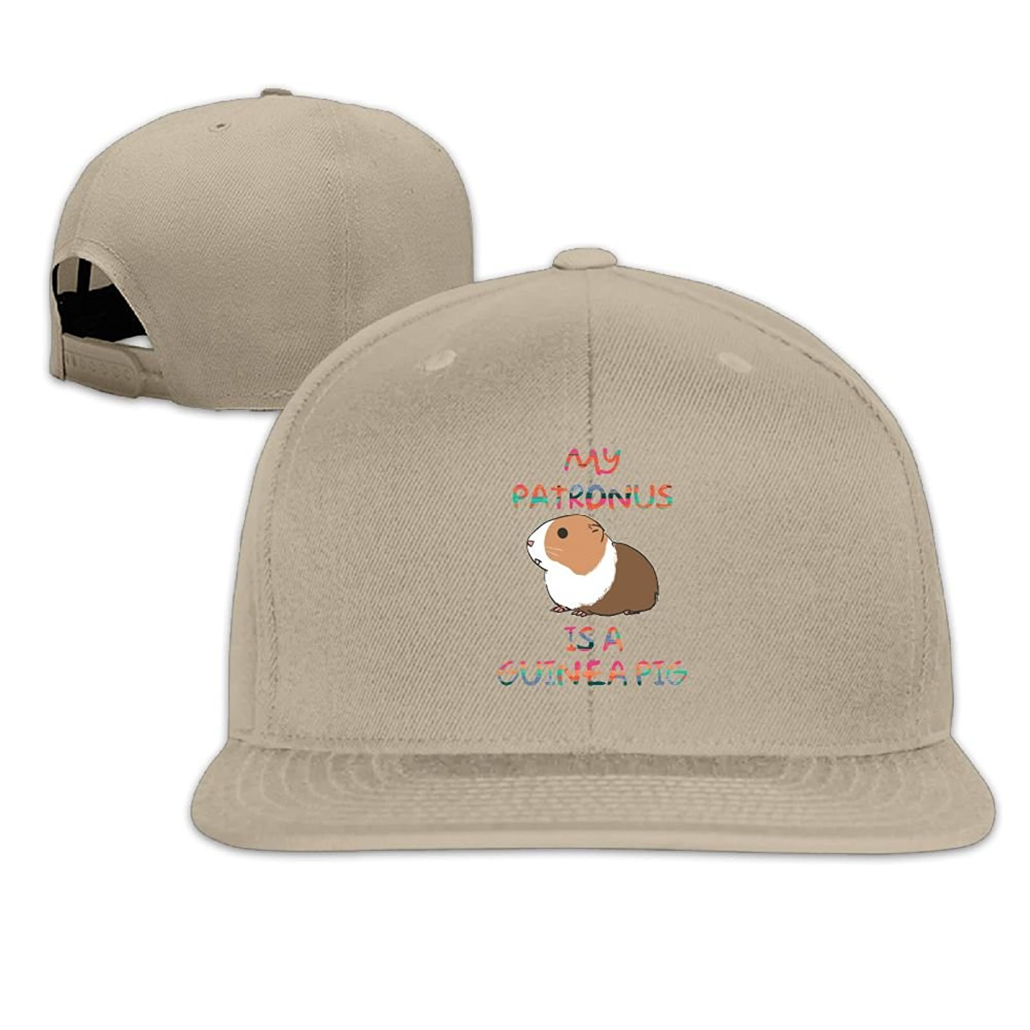 22de0f521ae Get Quotations · Yzksgy Cap My Patronus Is A Guinea Pig Cartoon Mens  Classic Flat Cap Snapback Graphic Flat