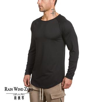 1d99603eb7f42 95%cotton 5%spandex long sleeve gym fit blank sweatshirt custom slim fit  shirts