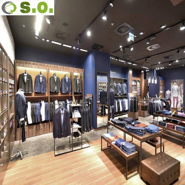 Modern Clothes Shop Furniture Display For Retail Garment Shop