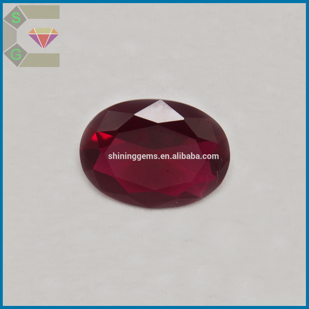 10*10MM elegance Superior quality heart cut 7# 8# synthetic ruby gemstone in low price