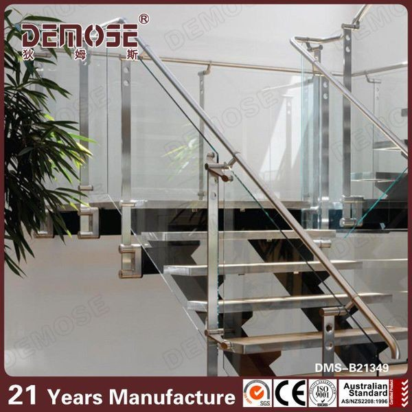 Interior Decoration Glass Handicap Stair Rails