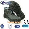 NMSAFETY cow split leather winter boots/work time safety shoes/winter boots