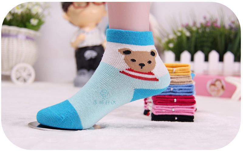 Warm soft cotton baby boys girls socks baby clothing accessories booties floor infant socks homewear 3pair