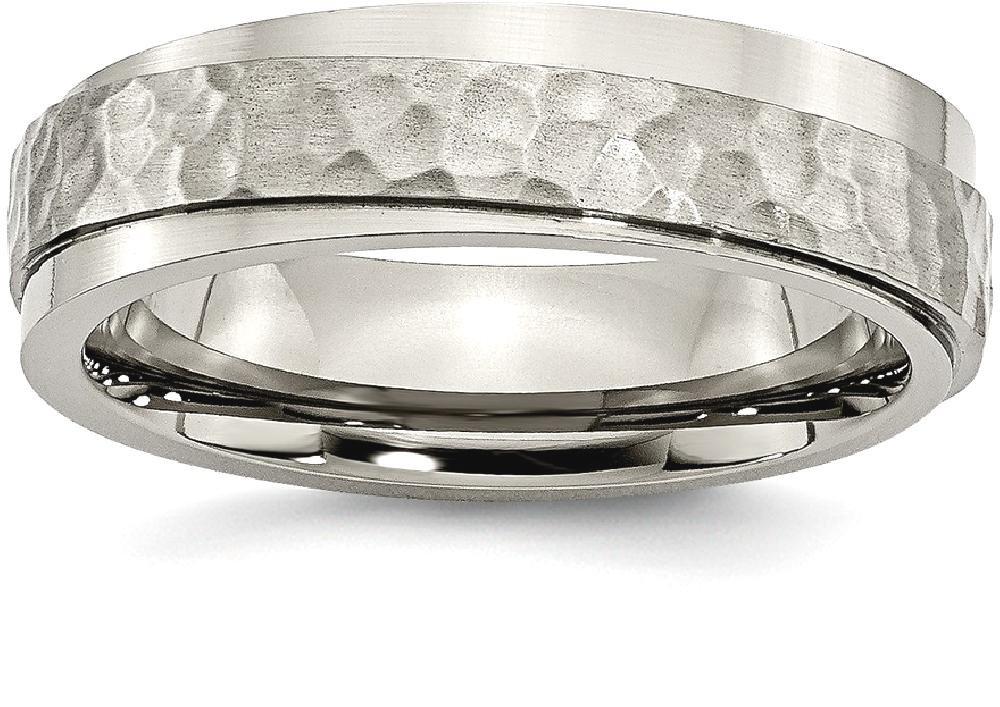 Bridal & Wedding Party Jewelry Titanium X Design 8mm Center Ridged Edge Wedding Ring Band Size 10.00 Fancy Engagement & Wedding