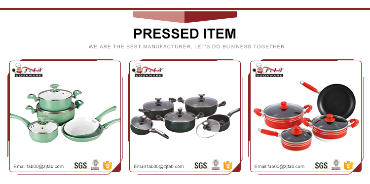 6pcs aluminum forged cookware set in kitchen with Stone Coating