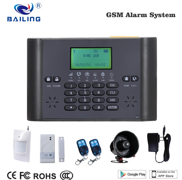 Home Automation kits 40 wireless GSM alarm system Wireless Android APP Smart alarm systems with door/pir alar