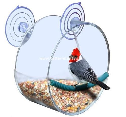 clear acrylic hanging window bird house