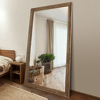Decorative Wall Floor Standing Mirror Full Length Dressing Mirror for Living Room