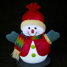 Wholesale Cheap led color changing EVA snowman Christmas toy