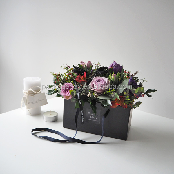 Hot Selling Black Square Flower Vase Standwedding Decoration Flower