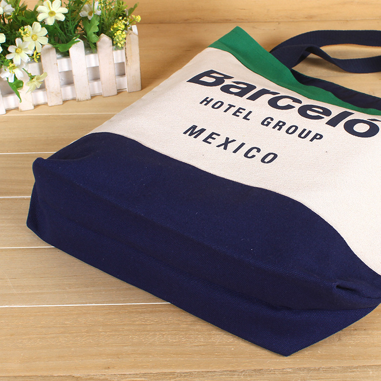 Custom Logo Promotional Eco Canvas Tote Shopping Cotton Bag